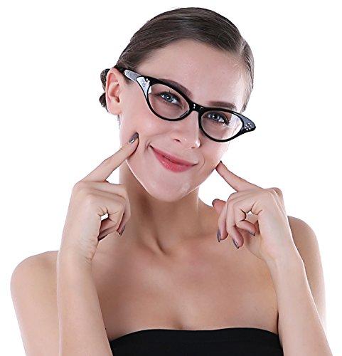ng, Cateye Brille Schwarz, Cat Eye Brille Schwarz (Einfache Cat Kostüme Für Frauen)