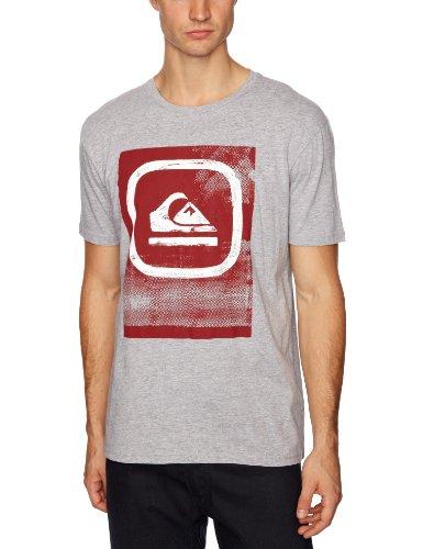 quiksilver-maglietta-con-stampa-colletto-tondo-manica-corta-uomo-grigio-light-grey-heath-2xl
