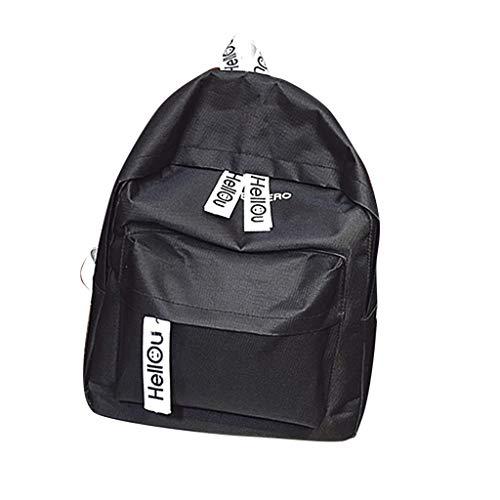 Sammlung Mode Hobo (XZDCDJ Rucksäcke Für Damen Tasche Damen Paar Schul Reisen Wandern Solide Rucksack groß Sammlung leuchtende Schwarz)