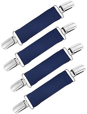 4 Stück Starke Edelstahl Handschuh Clips Elastische Handschuhe Caps Clips für Baby und Kinder