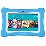 Beneve Andriod 7.1 Tablet para niños, 7 Pulgadas Tablet PC con 1GB RAM 8GB ROM y WiFi, Kids Software iWawa preinstalado, Azul/Rosa Kid-Proof Case Azul Azul