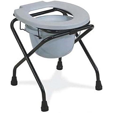 Igienici in sedia portatile pieghevole secchio WC donne vasino poltroncina Sedia WC
