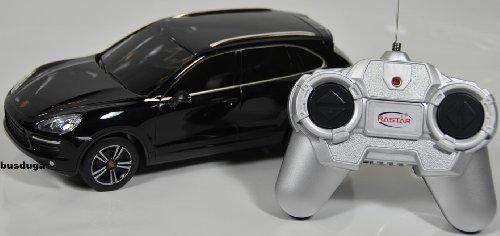RC Porsche Cayenne Turbo - Maßstab.: 1:24 - ferngesteuert - komplett Set - Farbe.: schwarz - LIZENZ-NACHBAU