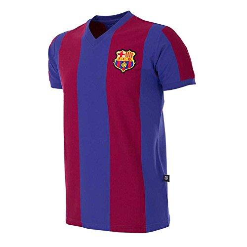 Maillot domicile FC Barcelone 1976/1977 Avec l'arrivée du brillant milieu de terrain néerlandais Johan Neeskens au Camp Nou durant l'été 1974, Barcelone semblait prêt à tirer parti de son succès au titre de champion d'Espagne de la saison précédente ...