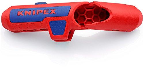 Knipex 16 95 01 SB Ergostrip Utensile Spelacavi Universale, 135 mm, Rosso
