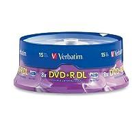 محرك أقراص DVD قابل للتسجيل من Verbatim 95484 - DVD+R DL - 8x - 8.50 GB - 15 حزمة