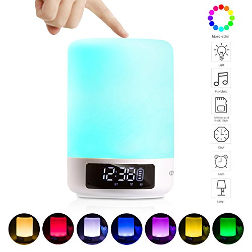 Keynice Lampada da comodino Sensore Touch + luce multicolore dimmerabile notte e...