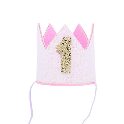 TOYANDONA 1er cumpleaños Corona Sombrero bebé niño