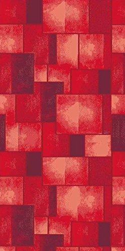 Catral 40020027 Alfombra Cocina y Pasillo Cuadros, Poliester y Caucho, Rojo, 50 x 75 cm