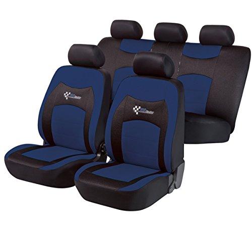 Preisvergleich Produktbild Timon 62323, Sitzbezug Schonbezug Autositzbezug, Komplett Set, Schwarz, Blau
