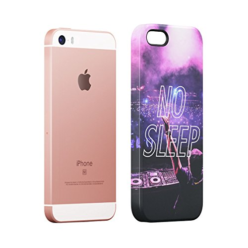 We Get So Disconnected Rave EDM Trance Music Festival Custodia Posteriore Sottile In Plastica Rigida Cover Per iPhone 7 & iPhone 8 Slim Fit Hard Case Cover No Sleep