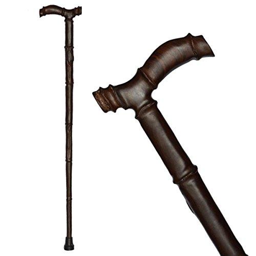 Stampella bastoni con mogano massello vecchia canna da sculture in legno di canna Walking Cane