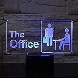 Veilleuse 3D Led Lampe The Office Worker Modèle Night Lights 7 Couleurs Changer...