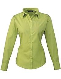 241d843ed7ab Premier Workwear Damen Bluse Ladies Poplin Long Sleeve Blouse
