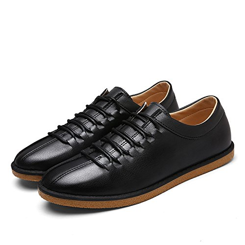 Men's Breathable Outdoor Leather Oxford Shoes S066 black
