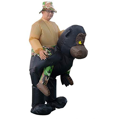 Kostüm Schimpanse Fuß - Sunny Aufblasbare Halloween Kostüm Schimpanse Kleidung Cosplay, lustige Neuheit Cosplay für Halloween und Party-Spiele