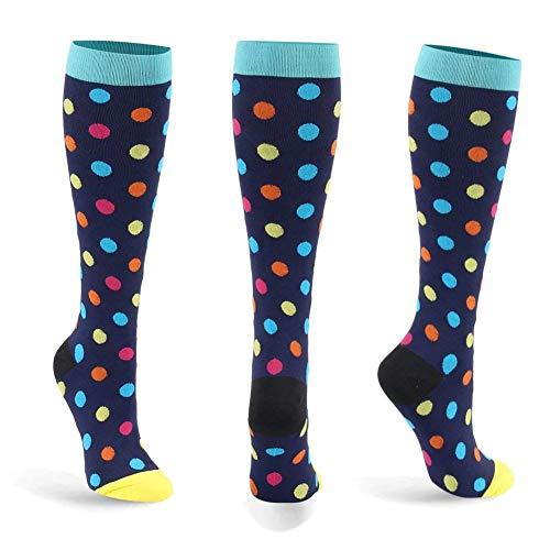 Calcetines de compresión para mujeres y hombres: los mejores para correr, deportes atléticos, crossfit (D-1-Pares, S/M)