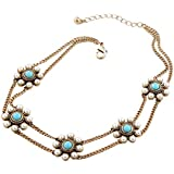 TBOP Choker Necklace Imported Jewellery Generous Diamond Pearl Pendant Necklace In Blue And White Color 33cm 36g