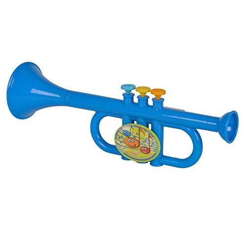 #11 Kindertrompete Spielzeug Trompete Musik Instrument Lernspielzeug Blasinstrument Blau mit 3 Ventilen