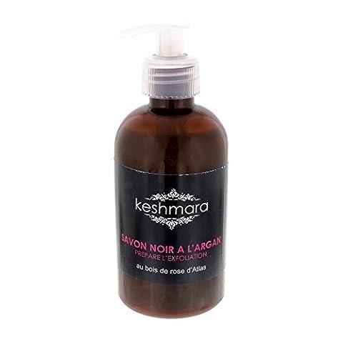keshmara Savon Noir Marocain Exfoliant Fluide à la Rose/à l'Argan/Extrait