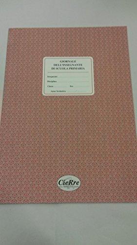GIORNALE DELL'INSEGNANTE DI SCUOLA PRIMARIA F.TO 34X24 CM