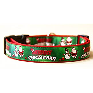 MasTazas Feliz Navidad Merry Christmas Collar Perro Hecho a Mano Dog Collar Handmade