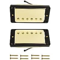 FLEOR pastilla Humbucker para guitarra eléctrica con marco curvado para Les Paul Guitarra Estilo parte
