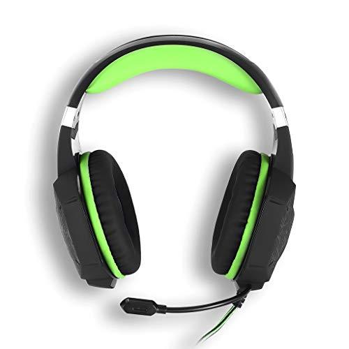 LRWEY Kopfhörer, 3,5 mm Bunter LED-Präzisions-Gaming-Kopfhörer Omnidirektionales Rauschunterdrückungsmikrofon Bass Stereo Headset für iPhone, iPad, Samsung, Huawei, Xiaomi und mehr