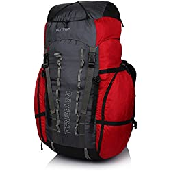 Suntop TREK 65L Travel Bag Backpacking Backpack for Outdoor Hiking Trekking Camping Rucksack(Red)