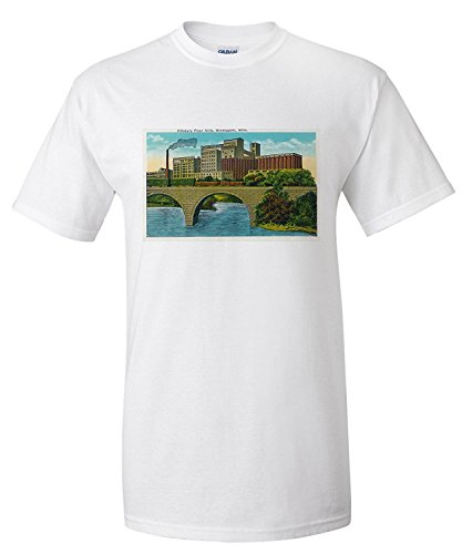 minneapolis-minnesota-exterior-view-of-the-pillsbury-flour-mills-premium-t-shirt