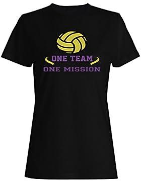 Un Equipo De Una Misión De Voleibol camiseta de las mujeres n620f