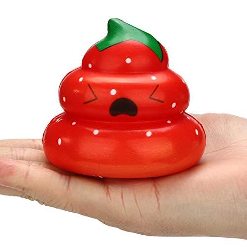 (TAOtTAO Squishies Kawaii Yummy Fruit POO Langsam Steigende Creme Duft Stress Relief Spielzeug (C))
