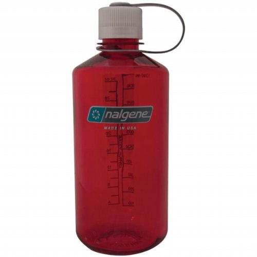 Nalgene Trinkflasche Narrow Mouth 1L Outdoor Rot, 1 Liter
