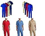 DICKIES Arbeitsoverall Arbeitskleidung Overall (L Kurzarm, Khaki)