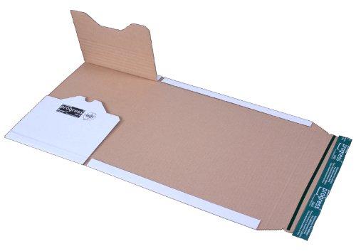 progressPACK Universal-Versandverpackung Premium PP B12.08 aus Wellpappe, DIN A4, 300 x 220 x bis 80 mm, 20-er Pack, weiß