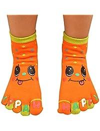 Calcetines de Deportes Cinco Calcetines del Dedo Five Toes Separator Socks Transpirable Algodón Cómodo Antideslizantes Regalo