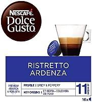 NESCAFÉ Dolce Gusto Café Ristretto Ardenza | Pack de 3 x 16 Cápsulas - Total: 48 Cápsulas de café