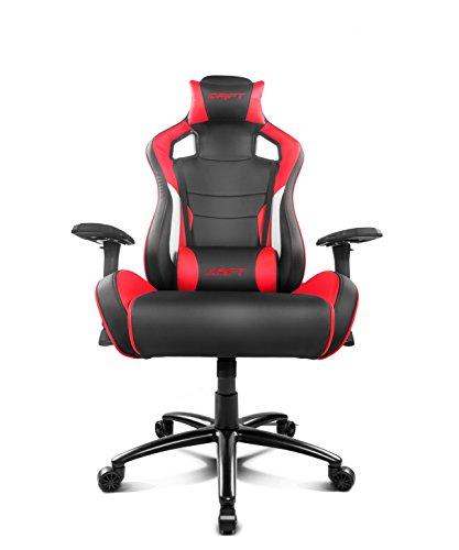 Drift DR400BR - Silla Gaming Profesional, (Polipiel Alta Calidad, Ergonómica), Color Negro/Rojo