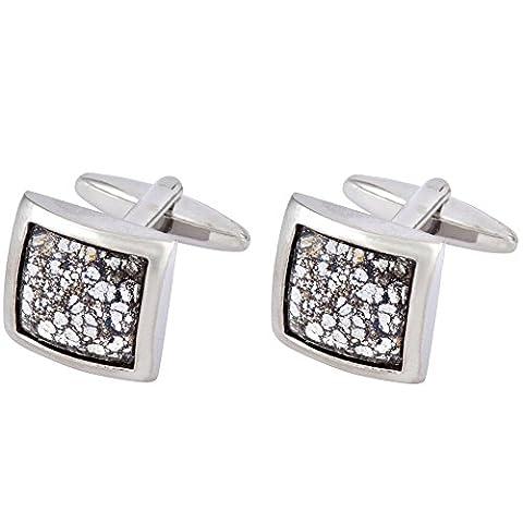Cufflinks with Swarovski Black Patina Crystals