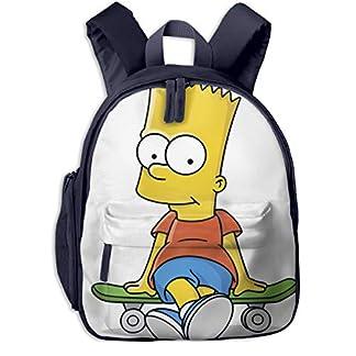 Simpson Kids Mochilas Escolares para niños Bolsa de Hombro para niños niñas Lindo Mochila