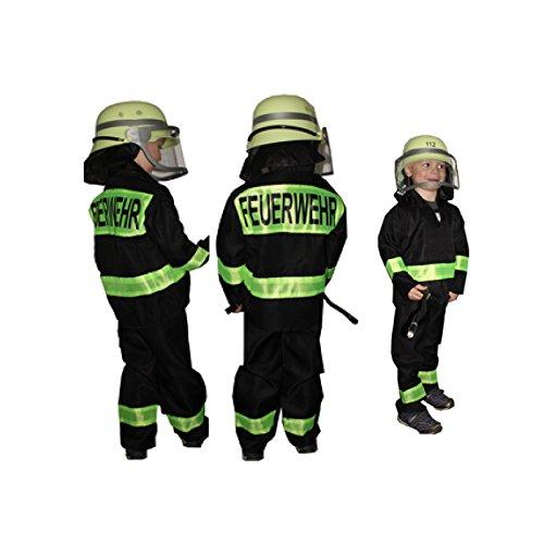 feuerwehrmann kostuem kinder Feuerwehr-Kostüm Kinder Feuerwehr-Mann Fasching Karneval Kinder-Kostüm Gr. 116 Waschbar Polyester Schadstoff geprüft