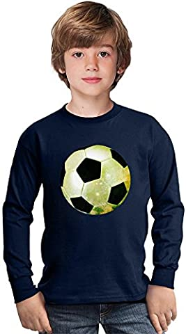 Galaxy Football Amazing Kids Long Sleeved Shirt by Benito Clothing - 100% Cotton- Ideal For Active Boys-Casual Wear - Perfect For A Present Unisex 9-11 years