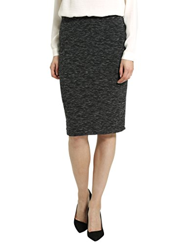 Berydale Damen-Rock in Midi-Länge, Anthrazit Melange, 2XL
