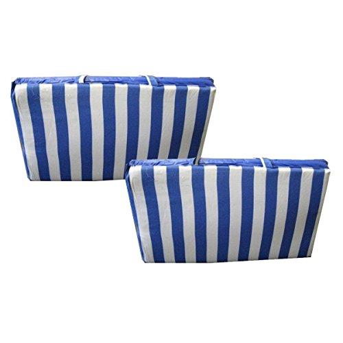 Preisvergleich Produktbild 2er Set Faltbare Strandmatte mit Tragegriff 190x54 gepolstert BLAU Badematte Strand Sand Urlaub