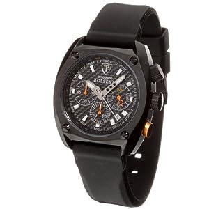 DeTomaso SP1552C-BK1 – Reloj de Caballero de Cuarzo, Correa de Silicona