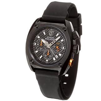 DeTomaso SP1552C-BK1 – Reloj de Caballero de Cuarzo, Correa de Silicona Color Negro (con cronómetro)
