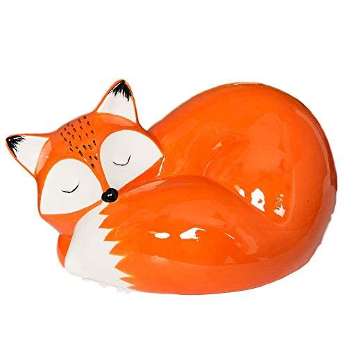 Moneybox Hucha cerámica diseño Zorro durmiendo