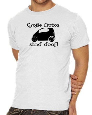 Touchlines Unisex/Herren T-Shirt Große Autos sind doof!, white, XXL, (Kitty White Kostüme)