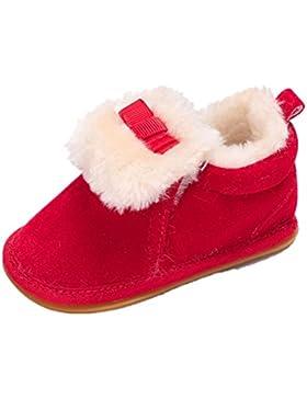 BZLine® Baby Plüsch Mokassins Soft Sole Non-Slip warm Snow mit Velvet Stiefel