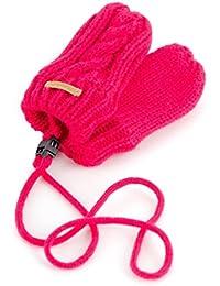 Barts Handschuhe Strickhandschuhe Fäustlinge pink Fleecefutter wärmend GR. 0 151493026